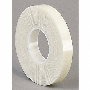 "Acrylic Foam Double Sided VHB Foam Tape, Acrylic Adhesive, 45.00 mil Thick, 6"" X 5 yd., White"