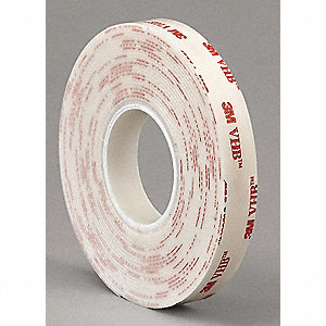 "Acrylic Foam Double Sided VHB Foam Tape, Acrylic Adhesive, 45.00 mil Thick, 2"" X 5 yd., White"