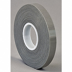 "Acrylic Foam Double Sided VHB Foam Tape, Acrylic Adhesive, 62.00 mil Thick, 1/2"" X 5 yd., Gray"