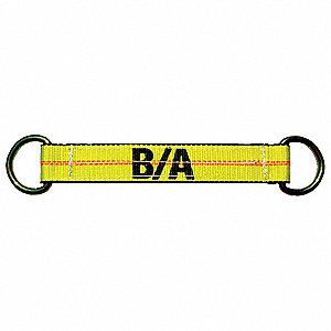 WEB SLING STRAP,YELLOW,POLYESTER
