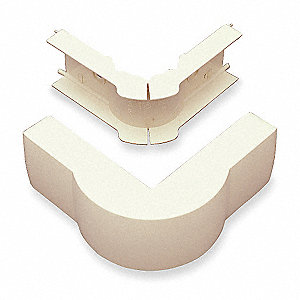 PVC 90° External Elbow For Use With PN03 Raceway, Ivory
