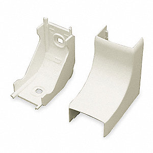 PVC Internal Elbow For Use With PN05 Raceway, Ivory