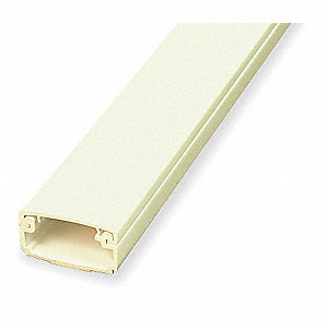 8 ft. Eclipse PN05 Series Raceway, PVC, Ivory, Cover Type: Snap On