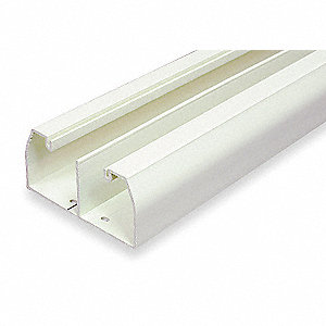 8 ft. CableSmart Series Raceway, PVC, White, Cover Type: Snap On
