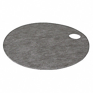 Drum Top Absorb Pad,Universal,Gray,PK10