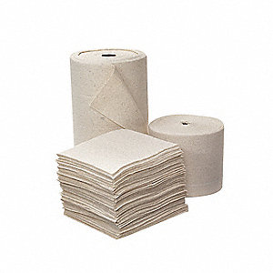 Heavy, Polypropylene/Synthetic Fibers/Natural Fibers Absorbent Roll, Fluids Absorbed: Oil Only / Pet