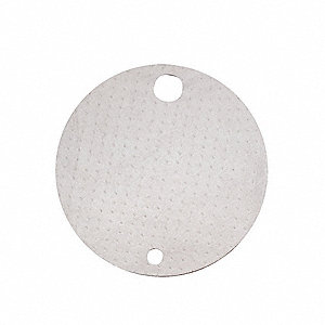 "N/A"" x 22"" Light Drum Top Absorbent Pad for Oil Only/Petroleum, White&#x3b; PK25"
