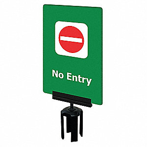 Acrylic Sign, Green, No Entry