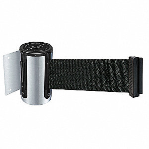 Retractable Belt Barrier, Black