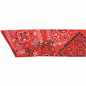 Cooling Bandana, Cotton with Water Activated Beads, Red, Universal