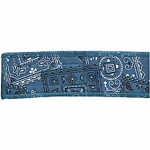 Cooling Headband, Terrycloth with Water Activated Beads, Blue, Universal