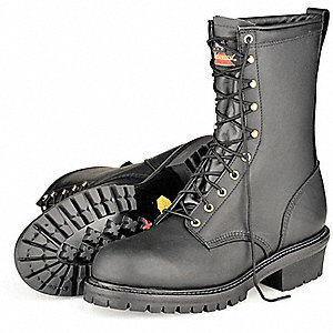 Men's Wildland Firefighting Boots, Size 8-1/2, Footwear Width: M, Footwear Closure Type: Lace Up