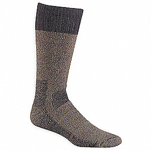 Over-the-Calf Polyester, Nylon, Worsted Wool, Acrylic, Spandex Outdoor Socks, Men's, Olive, 1 PR