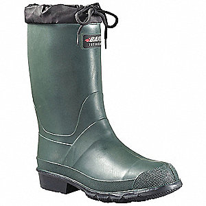 "13""H Men's Boots, Plain Toe Type, TR/Rubber/PU Upper Material, Green, Size 13"