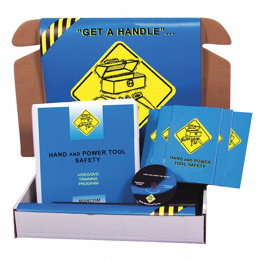 Safety Training Kit,  DVD,  Hand and Power Tools,  English
