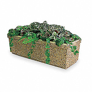 Security Planter,Rectangle,48 In. W,Sand