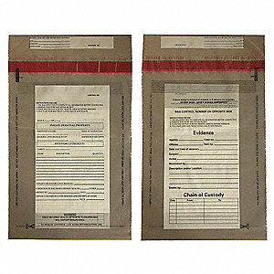 Evidence Bag,Dual Sided,12 x 9 In,PK100