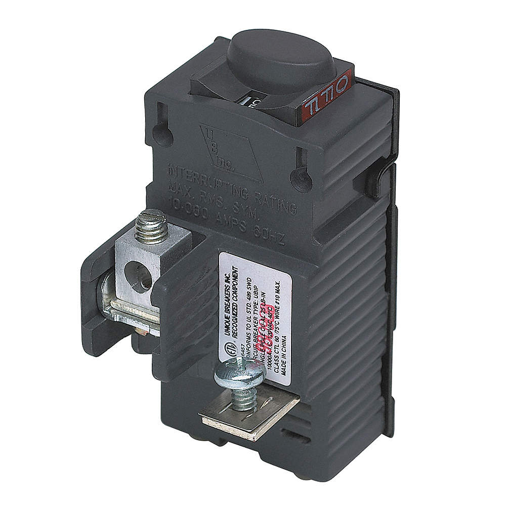 PUSHMATIC Plug In Circuit Breaker, UBIP, Number of Poles 1, 20 Amps ...
