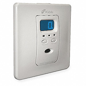 Carbon Monoxide Alarm with 85dB @ 10 ft., Chirp Audible Alert&#x3b; 120VAC, NiMH