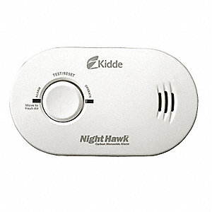 Carbon Monoxide Alarm with 85dB @ 10 ft., Chirp Audible Alert&#x3b; (3) AA