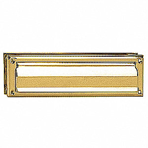 Standard Mail Slot,Magazine Size,Brass