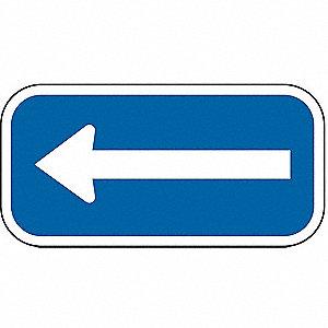 PARKING SIGN,6 X 12IN,WHT/BL,SYM,L-