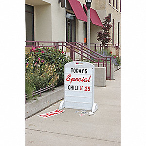 SIDEWALK SIGN/BOARD KIT, 24 IN. X 3