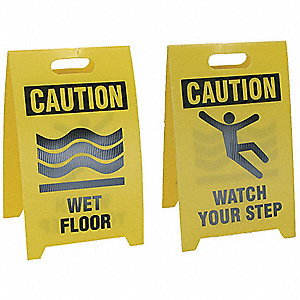 "Floor Safety Sign,20"" x 12"",Plastic"