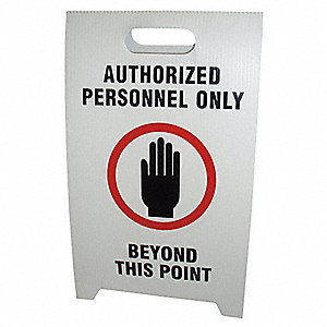 FLOOR STAND SAFETY SIGN,12 X 20