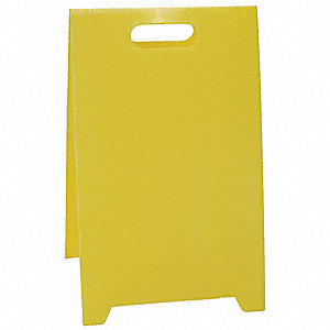 Blank Floor Stand Safety Sign,12 x 20
