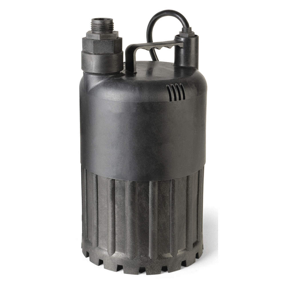 1/3 HP Submersible Sump Pump, No Switch Included Switch Type, Polypropylene  Base Material