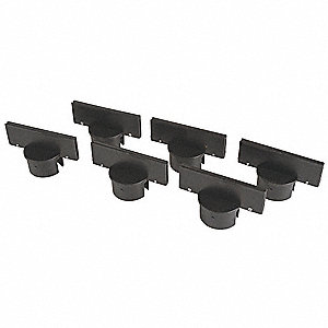 Post Sign Adapter,Polyethylene,Black,PK6