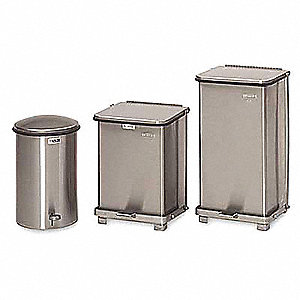 40 gal. Square Silver Medical Waste Container
