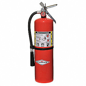 Dry Chemical Fire Extinguisher with 10 lb. Capacity and 20 sec. Discharge Time