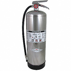 Fire Extinguisher, Water, Water, 2-1/2 gal., 2A UL Rating