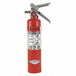 Dry Chemical Fire Extinguisher with 2.5 lb. Capacity and 10 sec. Discharge Time
