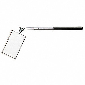 Rectangular Telescoping Inspection Mirror, 3 1/2 x 2 Mirror Size (In.), 11-1/2–16 Length (In.)