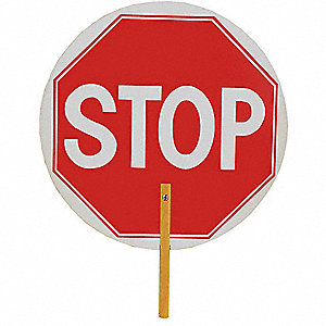 Paddle Sign,18 In. W,Stop/Slow