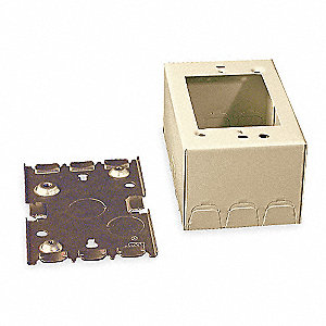 Steel Deep Switch and Receptacle Box For Use With 500 and 700 Raceways, Ivory