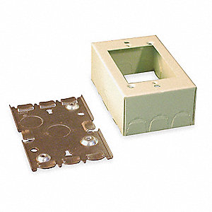 Shallow Device Box,Ivory,Steel,Boxes