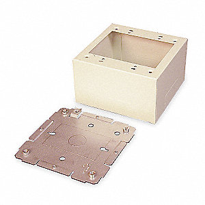 Steel Extra Deep Device Box For Use With 2400 Raceway, Ivory