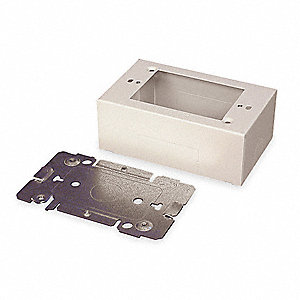 Steel Device Box For Use With 2400 Raceway, Ivory