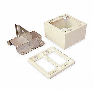 Steel Divided Device Box For Use With 2400 Raceway, Ivory