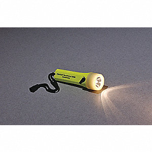 Industrial Xenon Industrial Handheld Flashlight, ABS Plastic, Maximum Lumens Output: 45, Yellow
