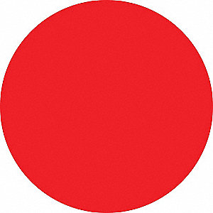 RED DOT LABEL,3/4 IN. H,3/4 IN. W,P