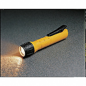 Industrial Xenon Handheld Flashlight, Plastic, Maximum Lumens Output: 53, Black