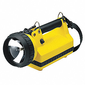 Halogen Tactical Lantern, ABS Plastic, Maximum Lumens Output: 400, Yellow, 11.50""