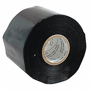 "Utility Duct Tape, 3"" X 36 yd., 7.50 mil Thick, Black Cloth, 1 EA"