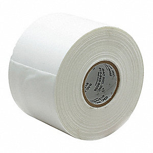 "Utility Duct Tape, 3"" X 36 yd., 7.50 mil Thick, White Cloth, 1 EA"