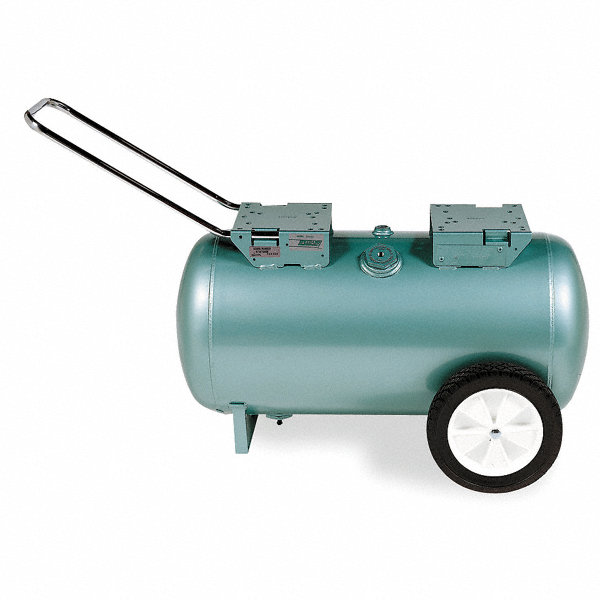 Speedaire steel gas engine air compressor tank green for Air compressor gas motor
